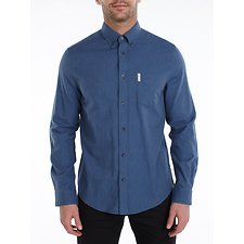 Image of Ben Sherman Australia BLUE MARL OXFORD SHIRT