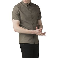 Image of Ben Sherman Australia OLIVE EMBROIDERY BACK SHIRT