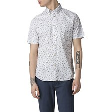 Image of Ben Sherman Australia WHITE PALM TREE PRINT SHIRT