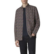 Image of Ben Sherman Australia DARK BLUE MICRO FLORAL SHIRT