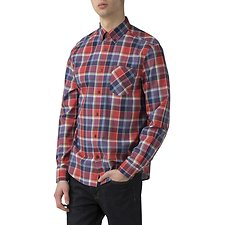 Image of Ben Sherman Australia BRIGHT RED SUMMER MADRAS SHIRT