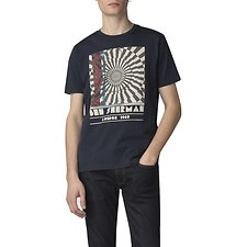 Image of Ben Sherman Australia NAVY OP ART T-SHIRT
