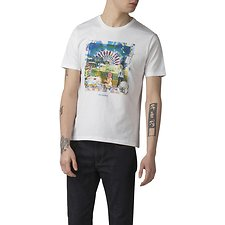 Image of Ben Sherman Australia WHITE BRIGHTON FEST T-SHIRT