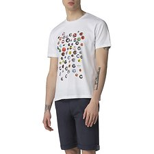 Image of Ben Sherman Australia WHITE PIN BADGE T-SHIRT