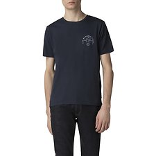 Image of Ben Sherman Australia DARK NAVY PEACOCK TOUR BACK PRINT T-SHIRT