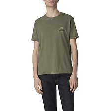Image of Ben Sherman Australia OLIVE PEACOCK TOUR BACK PRINT T-SHIRT