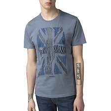 Image of Ben Sherman Australia BLUE SHADOW UNION WARP T-SHIRT