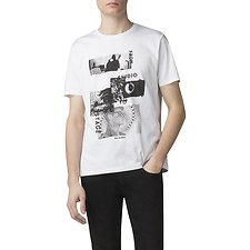 Image of Ben Sherman Australia WHITE EDITORIAL T-SHIRT