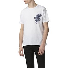 Image of Ben Sherman Australia WHITE PEACOCK POCKET T-SHIRT