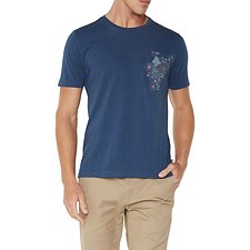 Image of Ben Sherman Australia DARK BLUE PEACOCK POCKET T-SHIRT