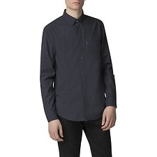 Image of Ben Sherman Australia DARK NAVY MARL SPOT SHIRT