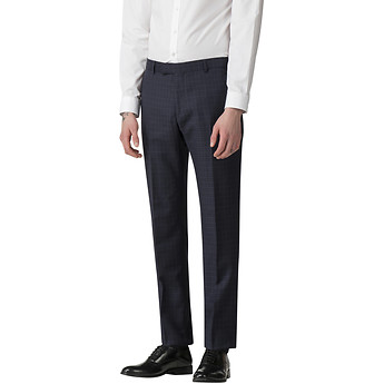 Image of Ben Sherman Australia  PEACOAT MINI TONAL CHECK TROUSER