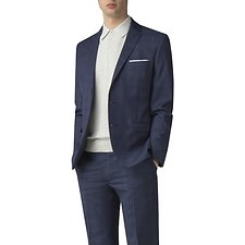 Image of Ben Sherman Australia BLUE SAPPHIRE CHECK JACKET