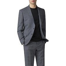 Image of Ben Sherman Australia BLUE SLATE CHAMBRAY CHECK JACKET