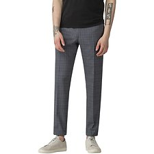 Image of Ben Sherman Australia BLUE SLATE CHAMBRAY CHECK TROUSER
