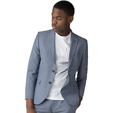 Picture of LIGHT BLUE CHAMBRAY BLAZER JACKET