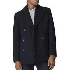 Image of Ben Sherman Australia DARK NAVY DOUBLE BREASTED PEACOAT