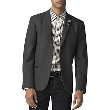 Image of Ben Sherman Australia CHARCOAL UNCONSTRUCTED FLANNEL BLAZER