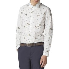 Image of Ben Sherman Australia OFF WHITE DUCK PRINT SHIRT