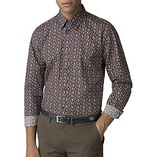 Image of Ben Sherman Australia CAMEL MULTICOLOUR FLORAL SHIRT