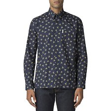 Image of Ben Sherman Australia DARK NAVY ARCHIVE CASINO SHIRT