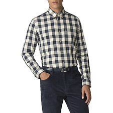 Image of Ben Sherman Australia NAVY PARQUET GINGHAM SHIRT