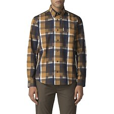 Image of Ben Sherman Australia YELLOW BLOCKED CHECKERBOARD SHIRT