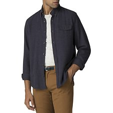 Image of Ben Sherman Australia DARK NAVY TEXTURED PARQUET SHIRT