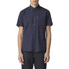 Image of Ben Sherman Australia NAVY RAISED TEXTURE SHIRT