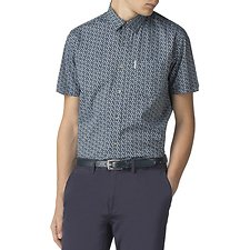 Image of Ben Sherman Australia DARK NAVY SLUB WAVE PRINT SHIRT