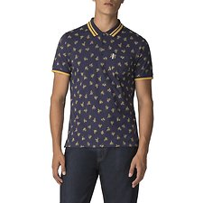 Image of Ben Sherman Australia NAVY ARCHIVE PRINT POLO