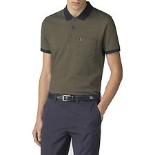 Image of Ben Sherman Australia DARK GREEN POPCORN JERSEY POLO