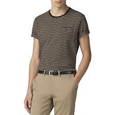 Image of Ben Sherman Australia BLACK PIXEL STRIPE T-SHIRT