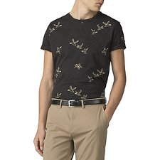 Image of Ben Sherman Australia BLACK DUCK AOP T-SHIRT