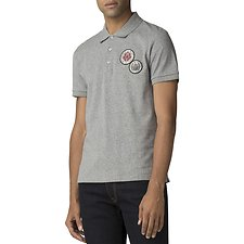 Image of Ben Sherman Australia LIGHT GREY EMBROIDERED BADGE POLO