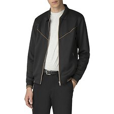 Image of Ben Sherman Australia BLACK TRICOT TRACK TOP