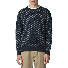Image of Ben Sherman Australia DARK NAVY GEO CREW NECK  KNIT