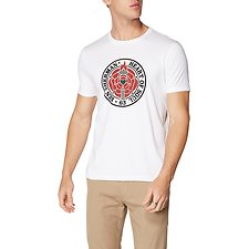 Image of Ben Sherman Australia WHITE HEART OF SOUL ROSE T-SHIRT