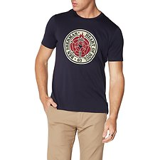 Image of Ben Sherman Australia DARK NAVY HEART OF SOUL ROSE T-SHIRT