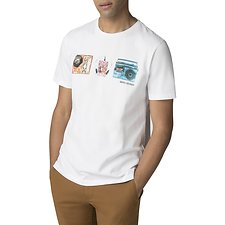Image of Ben Sherman Australia WHITE RETRO MUSIC T-SHIRT