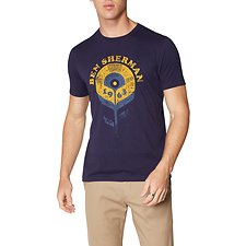 Image of Ben Sherman Australia NAVY RECORD FLOWER T-SHIRT