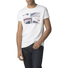 Image of Ben Sherman Australia WHITE COLLAGE UNION T-SHIRT