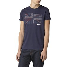 Image of Ben Sherman Australia NAVY COLLAGE UNION T-SHIRT