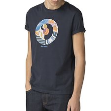 Image of Ben Sherman Australia DARK NAVY RETRO TARGET T-SHIRT