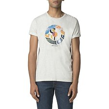 Image of Ben Sherman Australia OFF WHITE RETRO TARGET T-SHIRT