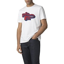 Image of Ben Sherman Australia WHITE RETRO TEXT T-SHIRT
