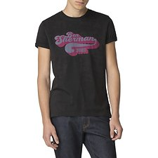 Image of Ben Sherman Australia BLACK RETRO TEXT T-SHIRT