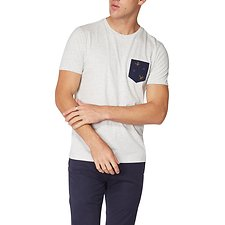 Image of Ben Sherman Australia OFF WHITE DEGRADE T-SHIRT