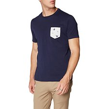 Image of Ben Sherman Australia NAVY DEGRADE T-SHIRT