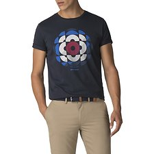 Image of Ben Sherman Australia DARK NAVY KALEIDOSCOPE TARGET T-SHIRT